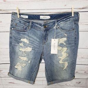 Torrid Boyfriend Denim Bermuda Shorts